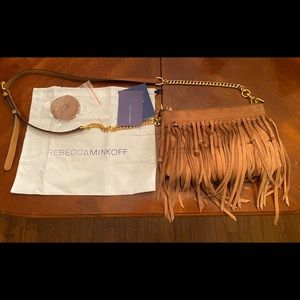 Rebecca Minkoff Crossbody Leather Fringed Purse